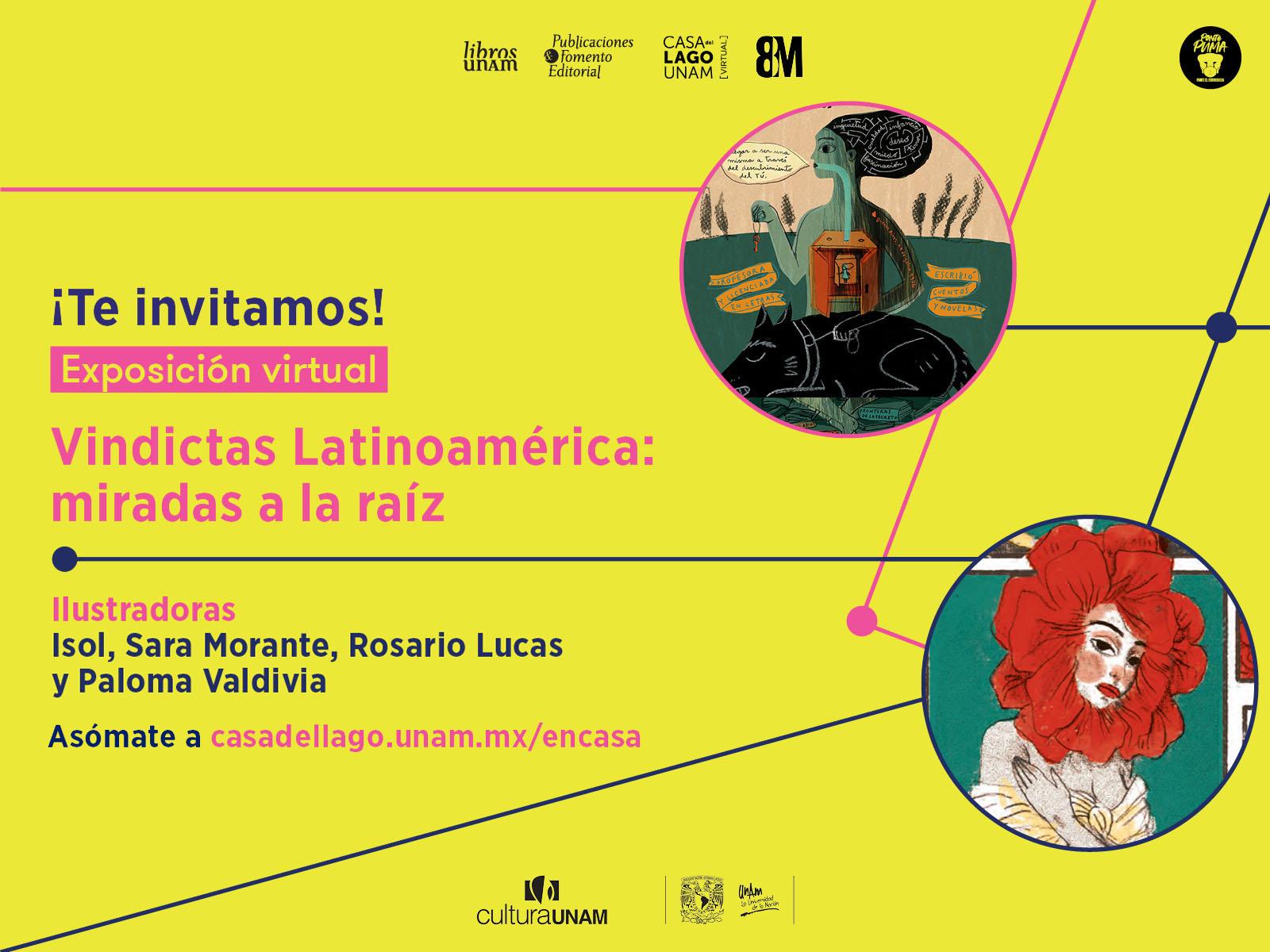 Exposición virtual, Vindictas Latinoamérica: miradas a la raíz - Libros UNAM