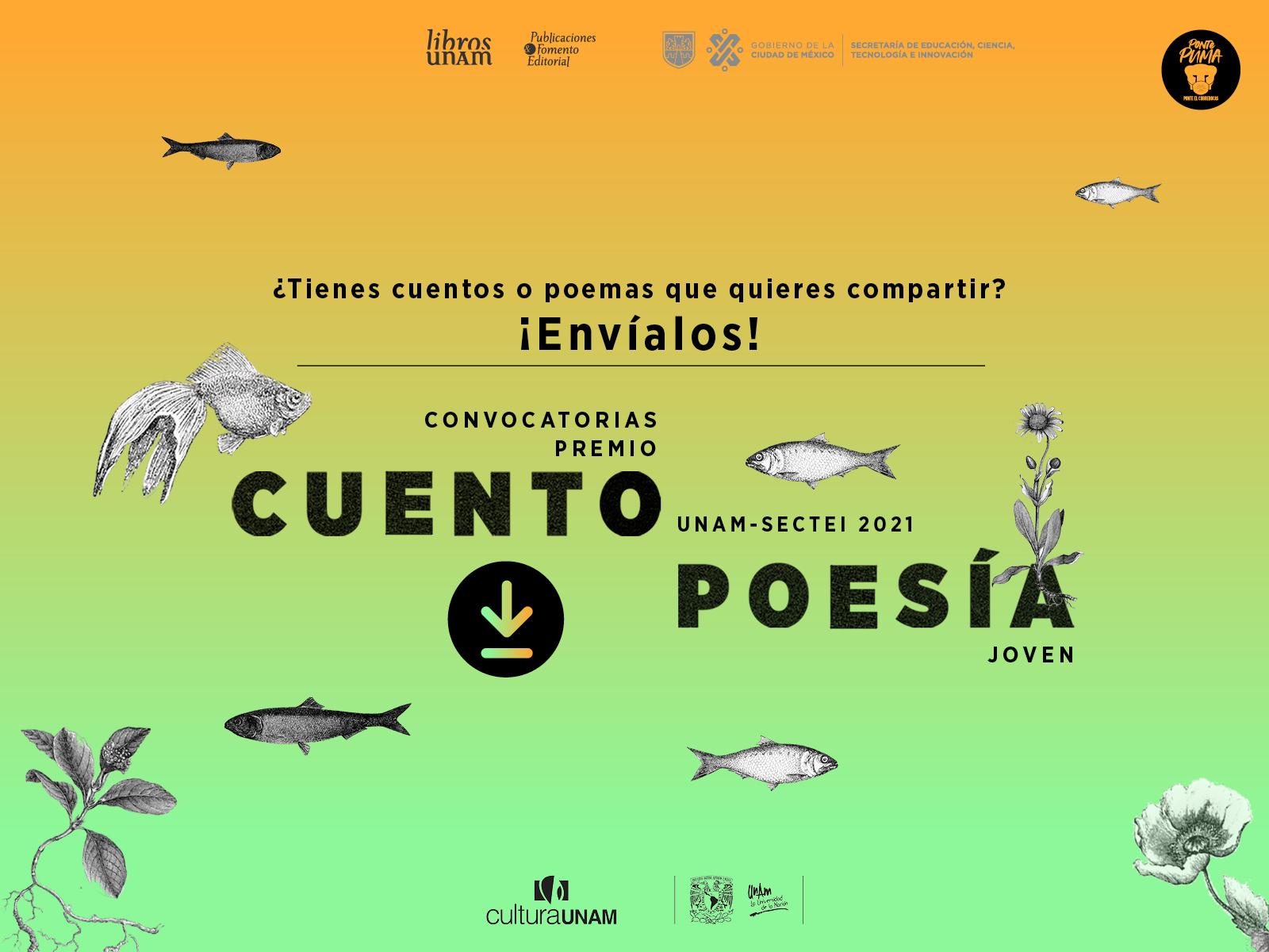 Convocatoria Premio Cuento Joven 2021 Libros UNAM