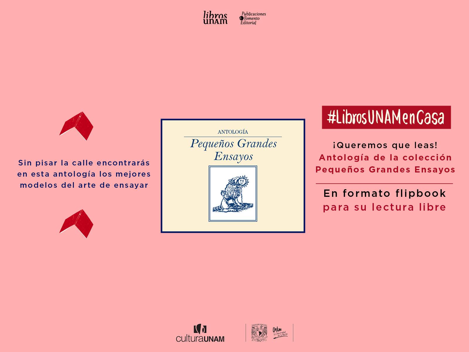 Libros UNAM en casa Pequeños Grandes Ensayos