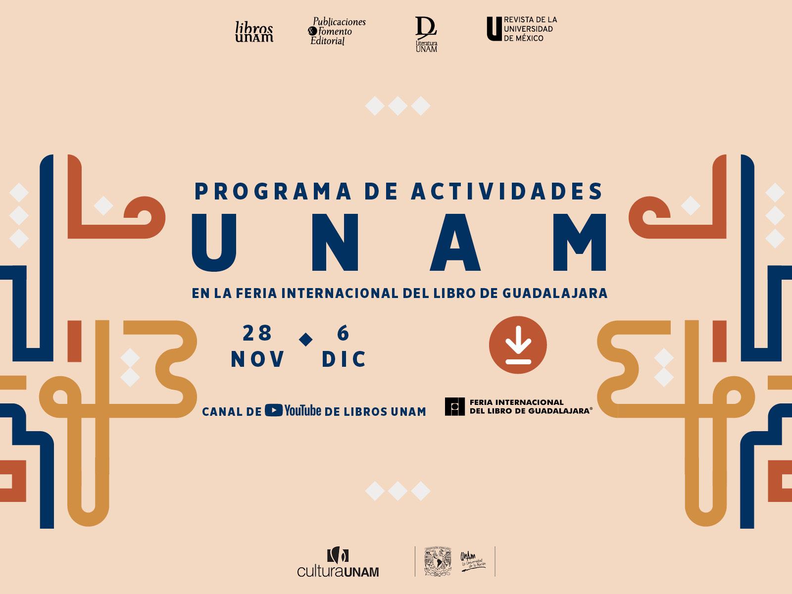 Programa de Libros UNAM en la FIL Guadalajara 2020