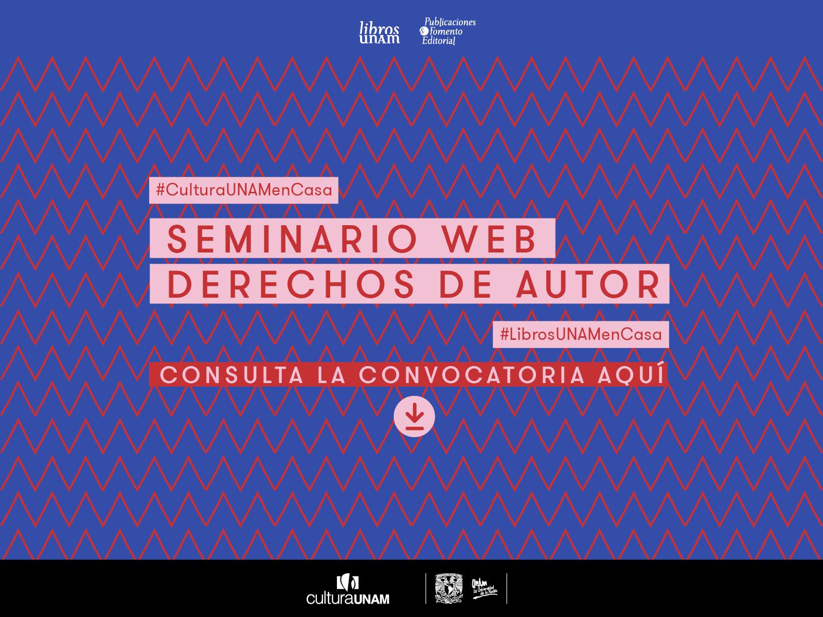 Seminario web Derechos de Autor - Libros UNAM